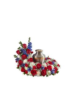 Cremation Wreath In Patriotic