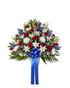 Heartfelt Sympathies Basket In Patriotic